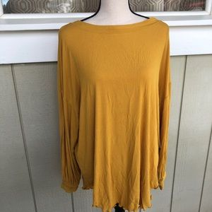 Free People Tops - Free people open back mustard Shimmy Shake Top